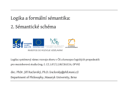 Logika a formální sémantika: 2. Sémantické schéma