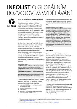 Infolist o globálním rozvojovém vzdělávání