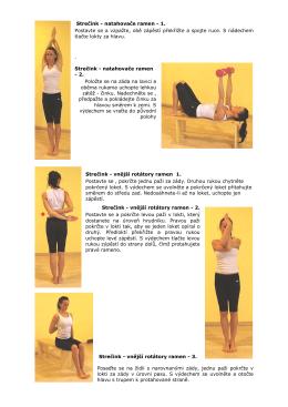 Strečink - natahovače ramen - 1. Postavte se a vzpažte, obě zápěstí