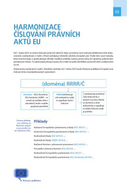 nové metodě číslování - EUR-Lex