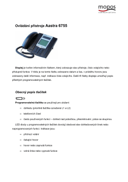 Ovládání přístroje Aastra 6755