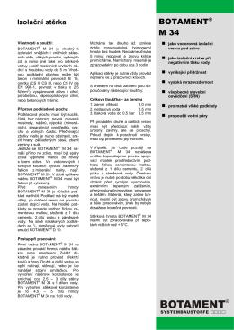 Izolační stěrka - Botament Systembaustoffe