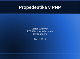 Propedeutika v PNP