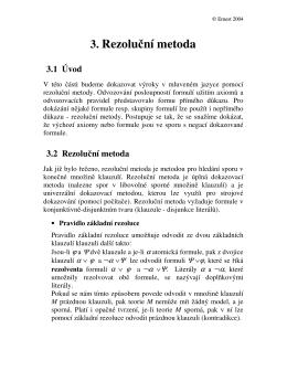 3. Rezoluční metoda