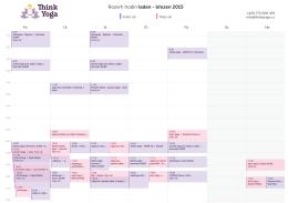 Rozvrh hodin leden - březen 2015