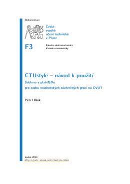manuálu - Petr Olšák