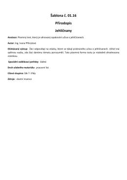 Šablona č. 01.16 Přírodopis Jehličnany