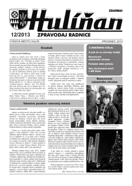 Hulíňan č. 12/2013