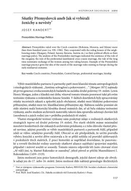 Stáhnout článek. - Časopis Historická sociologie