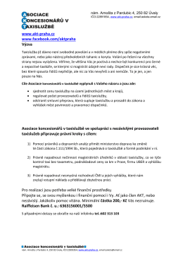 Výzva pdf pro tisk - Asociace koncesionářů v taxislužbě