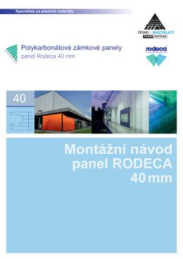 Montážní návod panel RODECA 40mm - TITAN