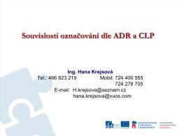 Označování a balení dle Nařízení CLP