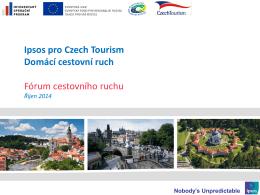 Domácí cestovní ruch v regionech ČR