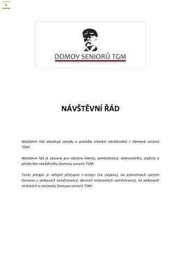 NÁVŠTĚVNÍ ŘÁD - Domov seniorů TGM