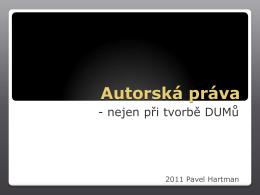 Prezentace o DUM a autorských právech