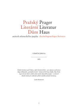 Výroční zpráva 2012 - Prager Literaturhaus