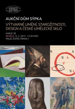 aukční dům sýpka výtvarné umění, starožitnosti, design a české