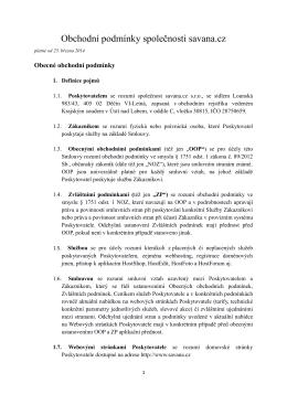 Obecné obchodní podmínky ve formátu PDF platné od 20.01.2014