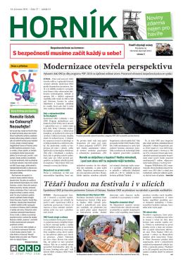 Článek v časopisu Horník