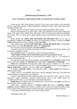 """(opis) Prohlášení pana H.Vollmanna z r. 1994: """"Nové"""" třísvazkové"""