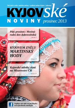 prosinec 2013 - On-line vysílání / program