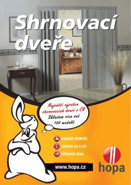 Katalog shrnovacích dveří - HOPA Koupelny a interiéry