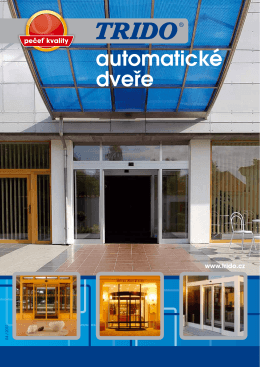 Automatické dveře TRIDO