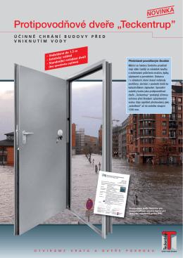 """Protipovodňové dveře """"Teckentrup``"""