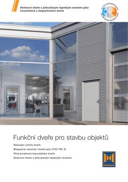 Funkční dveře pro stavbu objektů
