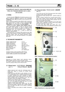 TRAN – 3 - K - StuAlarm.cz