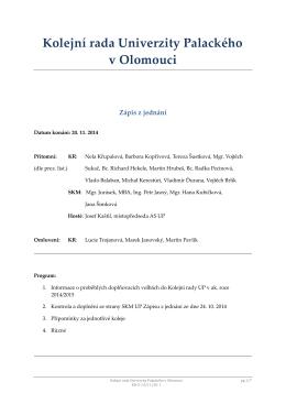 2014-11-20 - Správa kolejí a menz UP