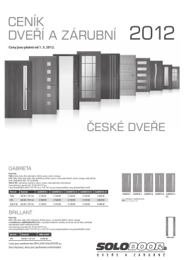 ceník dverí a zárubní 2012 ˇ