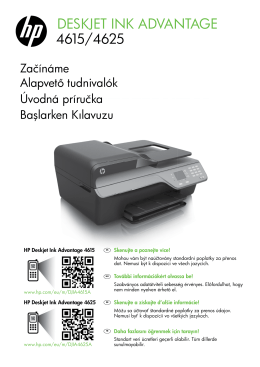 HP Deskjet 4615/4625 Getting Started Guide – EMEA