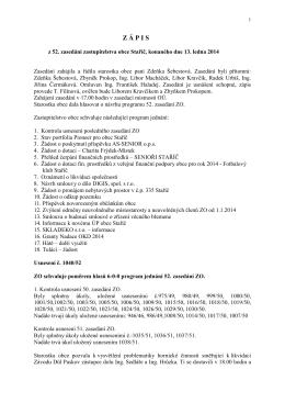 Zápis z 52. zasedání ZO ze dne 13.01.2014