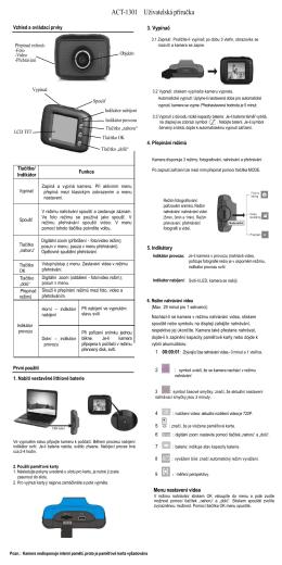 ACT-1301 Uživatelská příručka