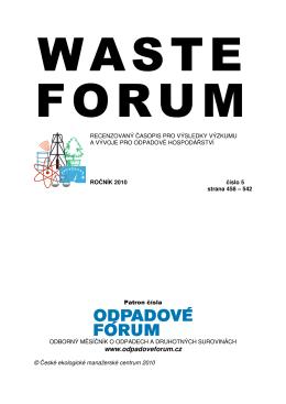 Srovnání nakládání s biologickým odpadem v integrovaných systémech