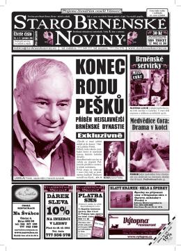 KONEC RODU PEŠKŮ - StaroBrněnské noviny