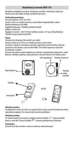 Bezdrátový zvonek SWD 110