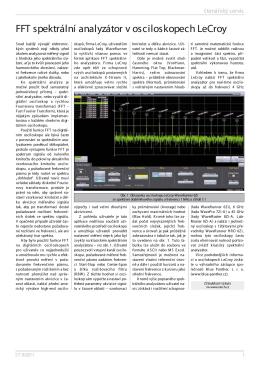 FFT spektrální analyzátor v osciloskopech LeCroy