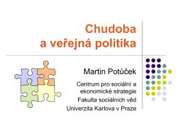 Chudoba a veřejná politika - Centrum pro sociální a ekonomické