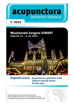 2013 - 4 - Česká lékařská akupunkturistická společnost