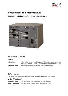 Základní ovládání telefonní ústředny NeXspan