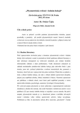 Plyometrická cvičení v ledním hokeji (Otakar Čajka)