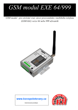 GSM modul EXE 64/999