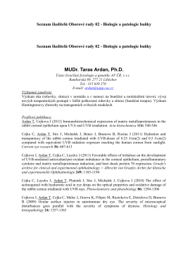 MUDr. Taras Ardan, Ph.D.