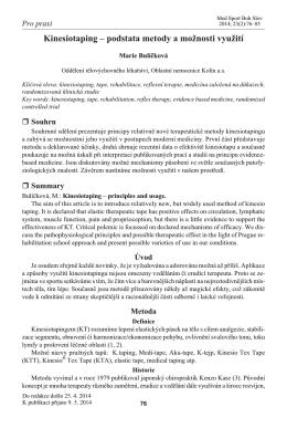 Kinesiotaping – podstata metody a možnosti využití - Thera