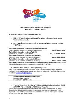 Zpravodaj pro průvodce 9/2014