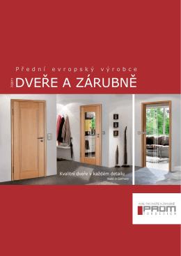 Katalog dveří PRÜM