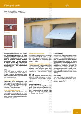 Výklopná vrata (pdf)
