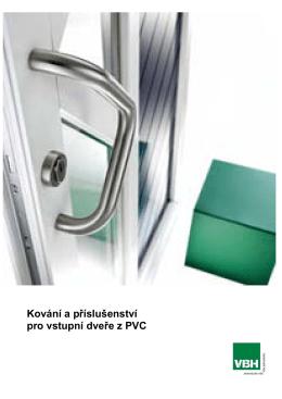 Kování a příslušenství pro vstupní dveře z PVC